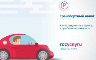 Оплата транспортного налога онлайн через Госуслуги