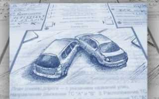 Как правильно нарисовать схему ДТП для страховой
