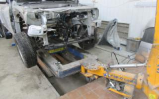 Ремонт машины после ДТП